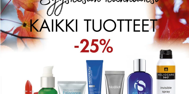 Syyskesän kunniaksi tuotteet -25 %